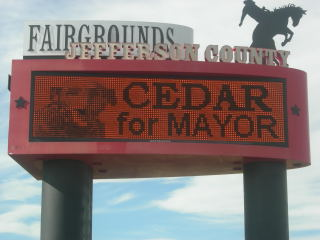 Cedar Sign